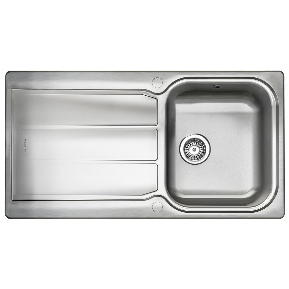 Rangemaster Glendale 1.0 Bowl Stainless Steel Kitchen Sink